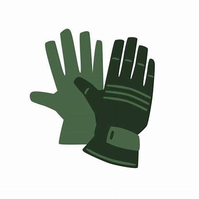 Gloves Icon Safety Protective Vector Background Illustration