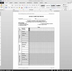Competency matrix template for Competency matrix template