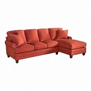 Bassett sectional sofa hamilton leather sectional sofa for Small sectional sofa bassett