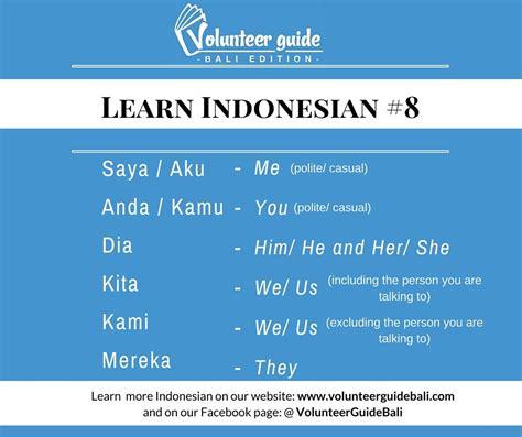 bahasa indonesia lesson personal pronouns find
