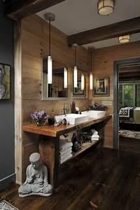 Deco zen dans la salle de bain 30 idees d39une atmosphere zen for Salle de bain design avec bougie décorative oriental