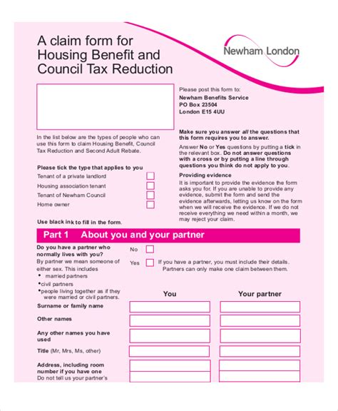 18558 housing benefit form housing benefit form 10 free documents in pdf