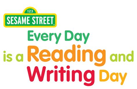 Every Day Is Reading And Writing Day  Sesame Workshop