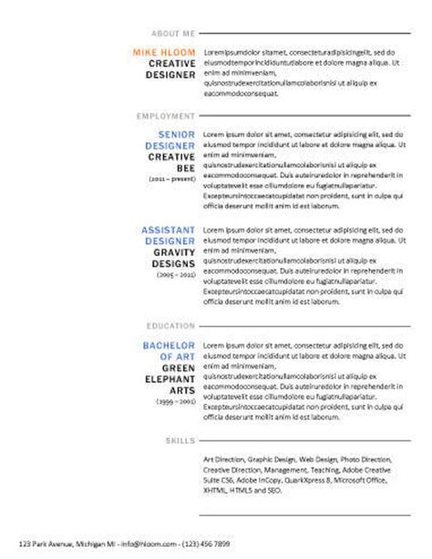 free resume templates 275 professional sles in word