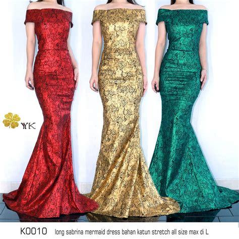 jual dress pesta sabrina dress long sabrina hijau gold