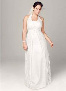 A line lace plus size wedding dress with beading david39s for Plus size wedding dresses near me