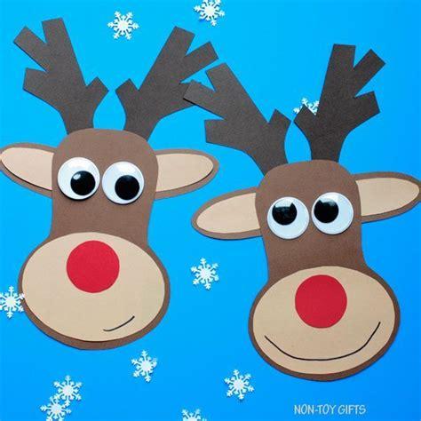 paper reindeer craft  printable template christmas