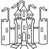 Castles Castle Children Drawing Clipart Colouring Pages Clip Library sketch template