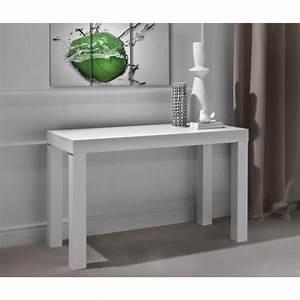 Console Transformable En Table : console murale transformable en table blanc laurine 3 ~ Teatrodelosmanantiales.com Idées de Décoration