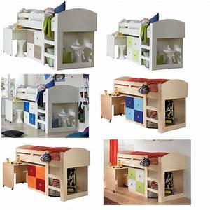Halbhochbett Mit Schreibtisch : wimex halbhochbett schreibtisch kommode leiter hochbett 6 farben ebay ~ Sanjose-hotels-ca.com Haus und Dekorationen