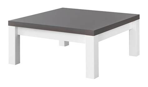 fly meuble cuisine table basse fano laqué blanc et gris blanc brillant gris