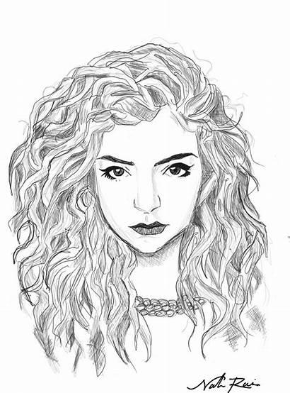 Lorde Drawing Hair Outline Drawings Cartoon Draw