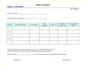 Project Action Plan Template Free