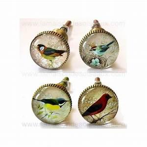Bouton De Meuble : boutons de meuble oiseaux en verre chehoma ~ Teatrodelosmanantiales.com Idées de Décoration