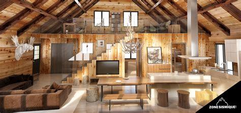 plan interieur maison en bois mzaol