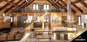 High quality images for decoration interieur chalet bois rond ...