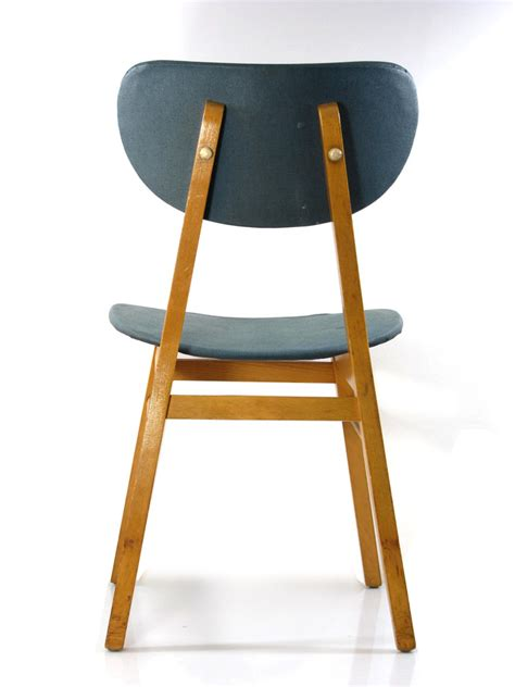 2 fifties design wooden dining chairs vintage retro design