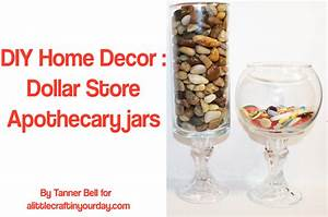 DIY Home Decor : Dollar Store Apothecary Jars - A Little