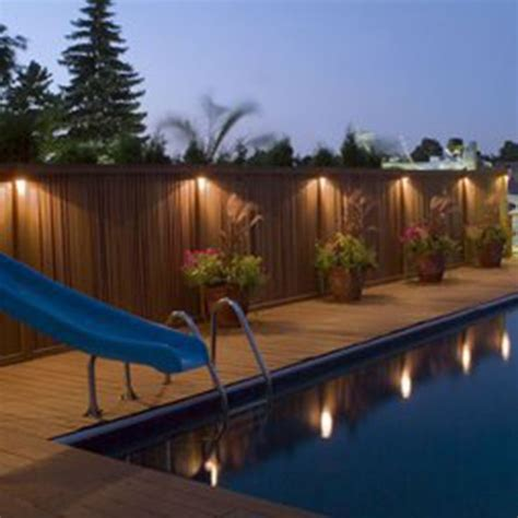 25 best ideas about fence lighting on fence