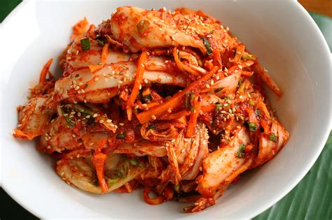 corian cuisine food photo fresh kimchi with barley rice for my