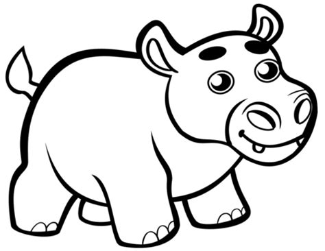 Cute Baby Hippo coloring page Free Printable Coloring Pages