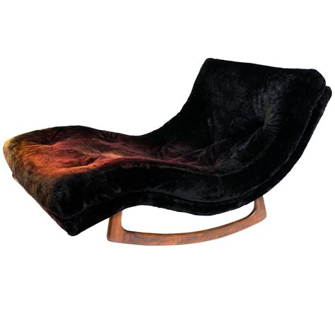 adrian pearsall wave chaise rocker for craft at 1stdibs