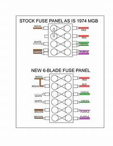 1974 Mgb Fuse Box Diagram  Parts  Wiring Diagram Images