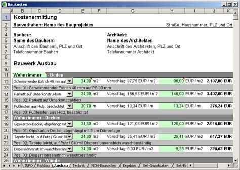 baukosten wohnhaus software