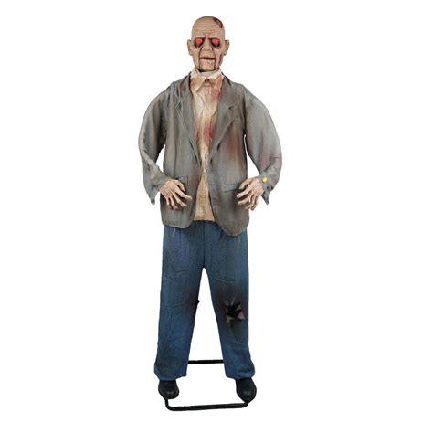 home depot standing ls home accents holiday 72 in standing zombie with halloween