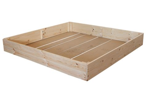sandkasten mit deckel und boden sandkasten sandkiste p 07 120x120 cm holz mit dach hdf boden plane ebay