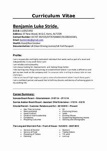 Complete And Current Cv England