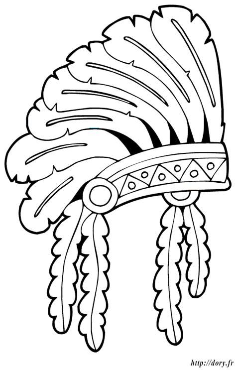 vetements de cuisine coloriage à imprimer une coiffe indienne dory fr coloriages