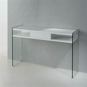 Console En Verre : maya console en verre avec tiroir et tablette stratifi e sediarreda ~ Teatrodelosmanantiales.com Idées de Décoration