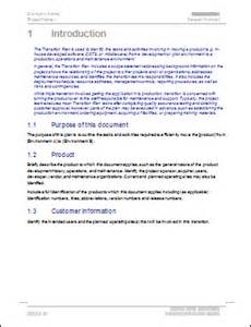 Communication Transition Plan Template