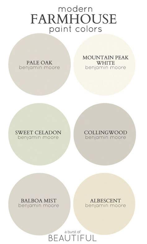 modern farmhouse color palette best paint colors for