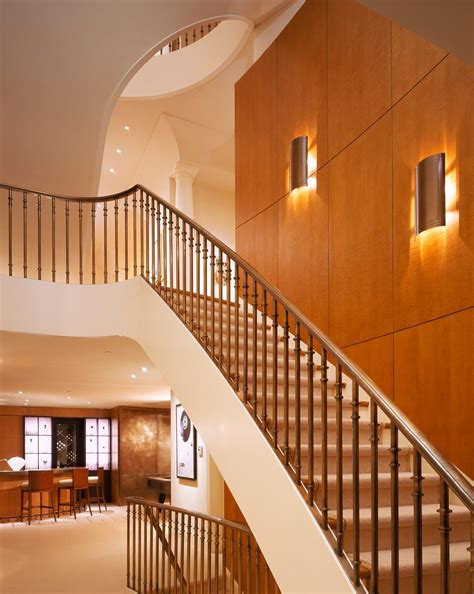 modern wall sconce staircase contemporary  white