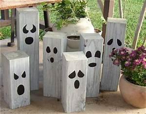 DIY Homemade Garden Ghosts e Crazy Mom