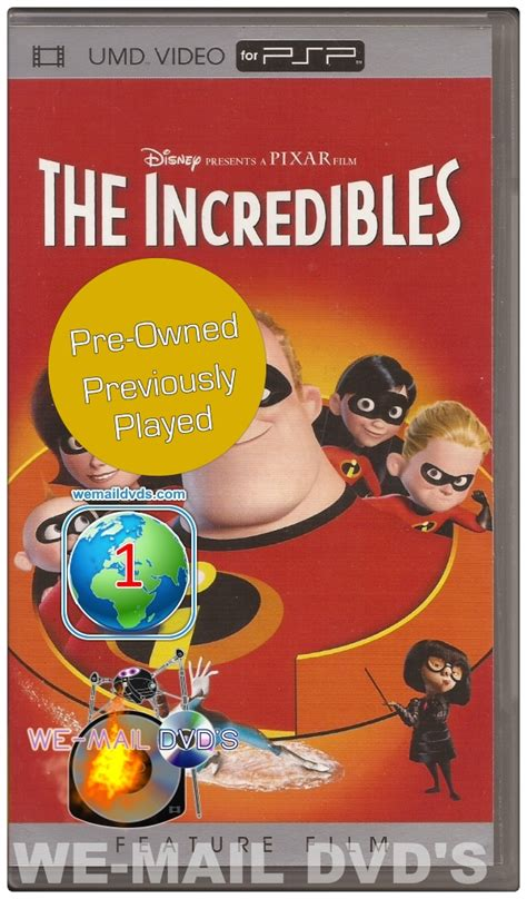 disney pixar the incredibles reg 1 umd umd for the psp pre owned u s release we mail