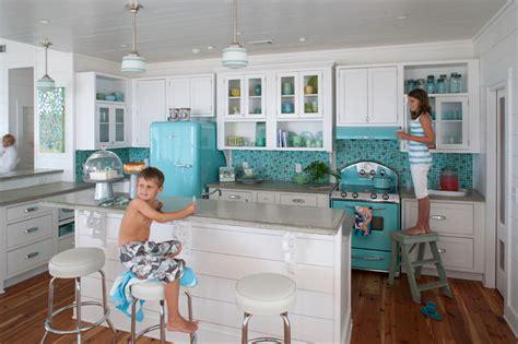 retro kitchen appliance kitchen with blue appliances