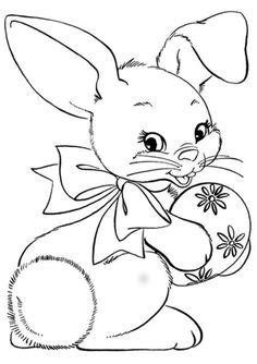 st. patrick's day coloring pages | Easter bunny coloring