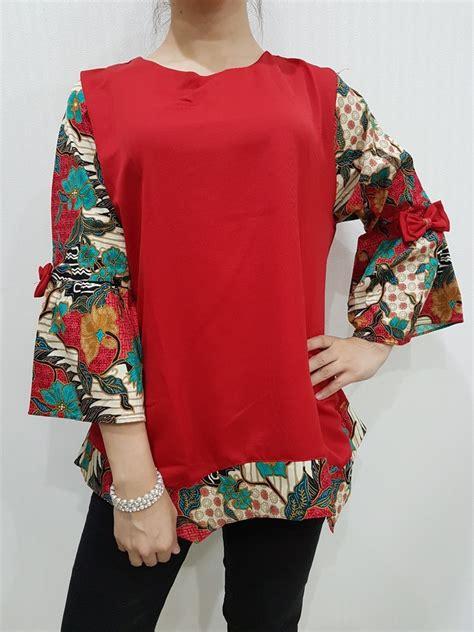 atasan batik wanita modern el  merk nurenka baju