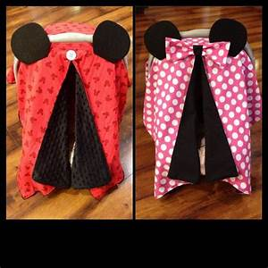 Designer Newborn Rompers Minnie Mouse Car Seat Canopy Pink And White Polka Dot