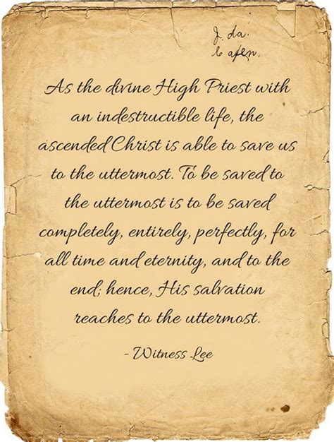 Able To Save To The Uttermost by Our High Priest Is Able To Save Us To The Uttermost