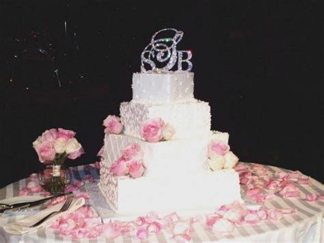 swarovski crystal triple monogram cake topper set free