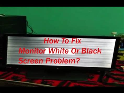 repair lcd led computer monitor white screen