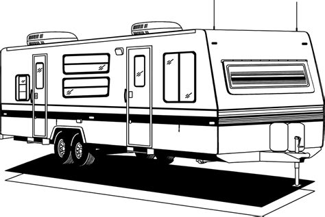 motorhome clipart black and white rv black and white clipart clipart suggest