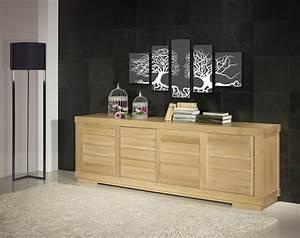 Buffet Portes Coulissantes : buffet 4 portes coulissantes en ch ne massif de style contemporain vintage meuble en ch ne ~ Teatrodelosmanantiales.com Idées de Décoration