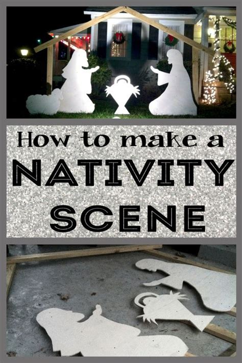 christmas nativity front yards  pictures  pinterest