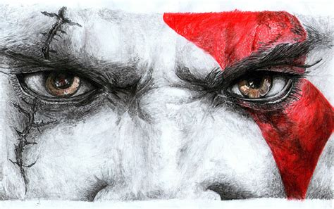 Kratos God Of War Iii By Mythikhiwy On Deviantart
