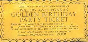 willy wonka golden ticket invitation With willy wonka invitations templates